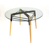 Buy Black Steel Frame Glass Round Dining Table | 212Concept