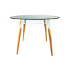 Buy White Steel Frame Glass Round Dining Table | 212Concept