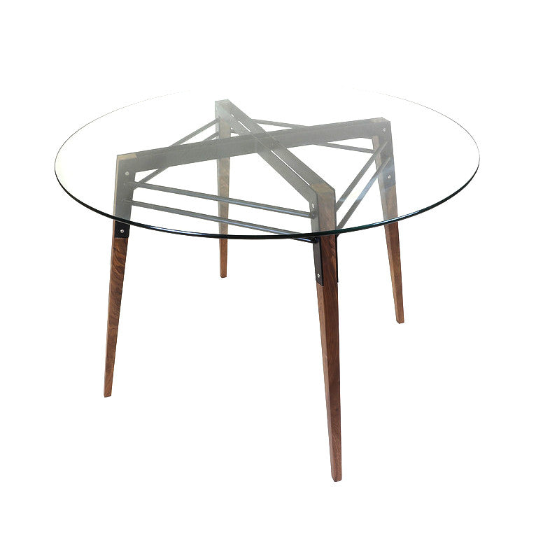 Buy Black Steel Frame Glass Round Dining Table 212concept