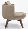 Buy Large Wood Base Round Lounge Chair | 212Concept