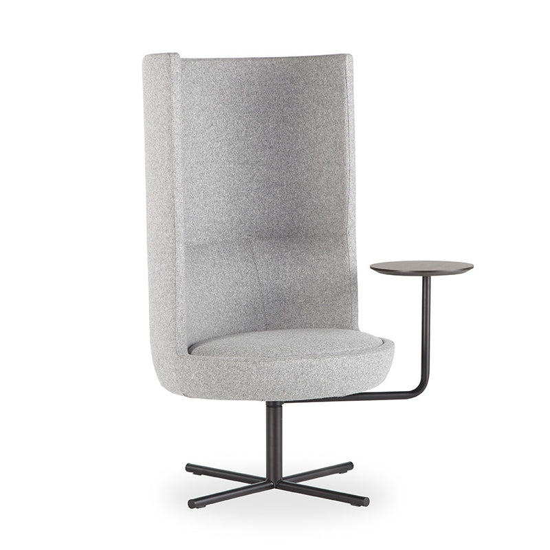 Buy High Back Rest Swivel Lounge Chair w/Side Table | 212Concept