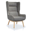 Buy High Winged Back Twill Fabric Upholstered Lounge Chair | 212Concept