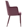 Contemporary Rift Armchair in purple fabric side view