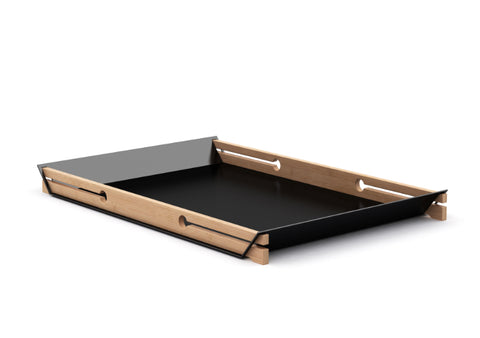 Buy Simple, Purposeful Tray Made Of Bamboo And Steel | 212Concept