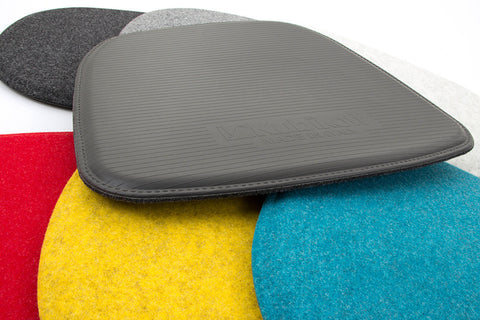 Modern Maharam Kvadrat Wool side chair seat pads for all Kubikoff chair collection