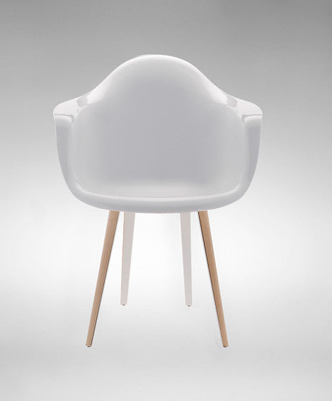 Slice modern armchair with polycarbonate shell