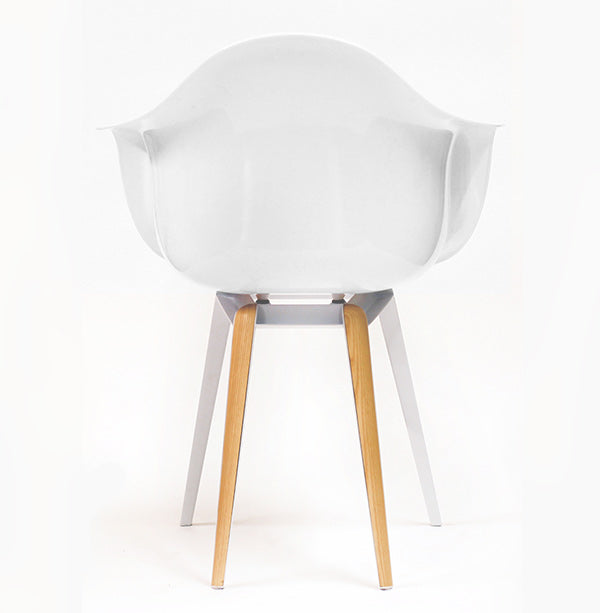 Slice modern armchair with powder-coated ashwood base