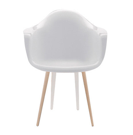 Slice modern armchair with white shell