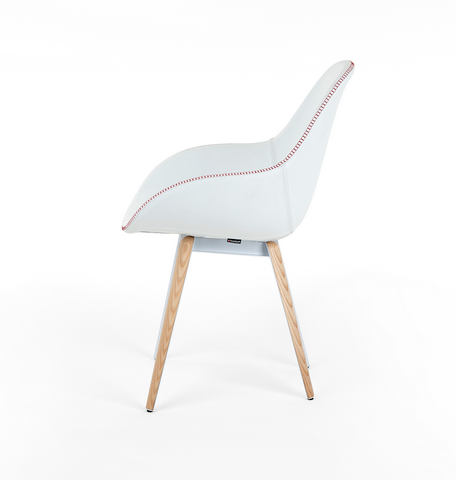 Buy Hand-Stitched Modern Ellipse Wood Legged Chair | 212Concept