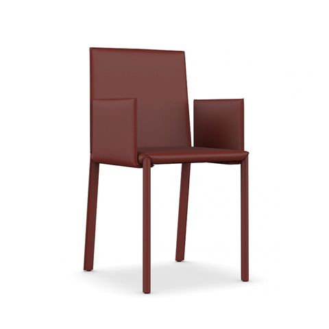 Shop For Sleek Minimal Leather Upholstered Italian Chair | 212Concept