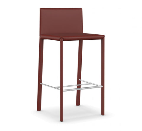 Shop For Sleek Minimal Leather Upholstered Italian Stool | 212Concept