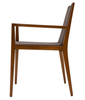 Spirit modern dining chair in brown wool side view