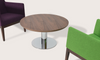 Tango modern coffee table in Walnut wooden top with Harput Wood Chairs