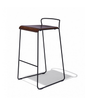 Buy Industrial Minimal Wood Shell Bar Stool | 212Concept