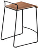 Buy Industrial Minimal Wood Shell Counter Stool | 212Concept