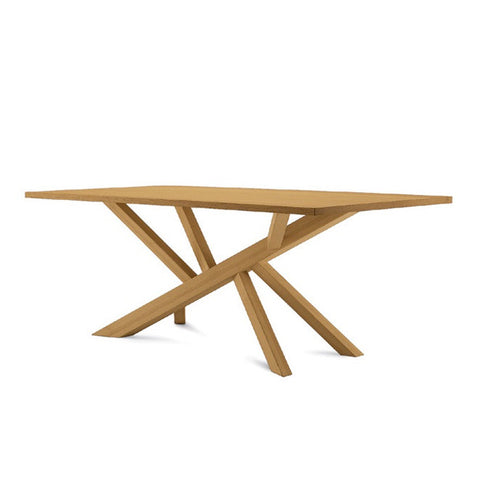 Buy Wooden Cross Base Modern Table | 212Concept