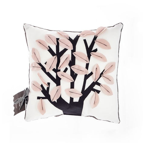 Buy modern tree design white & pink cushion | 212Concept