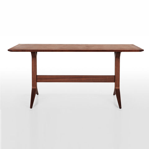 Buy Y-Shaped Modern Trestle Base Wood Veneer Table | 212Concept