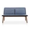 Buy Slender Silhouette Blue Fabric Minimal Form Sofa | 212Concept