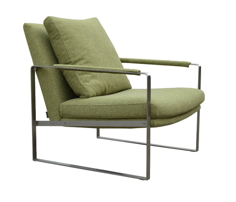 Zara modern Lounge chair in camira green wool option