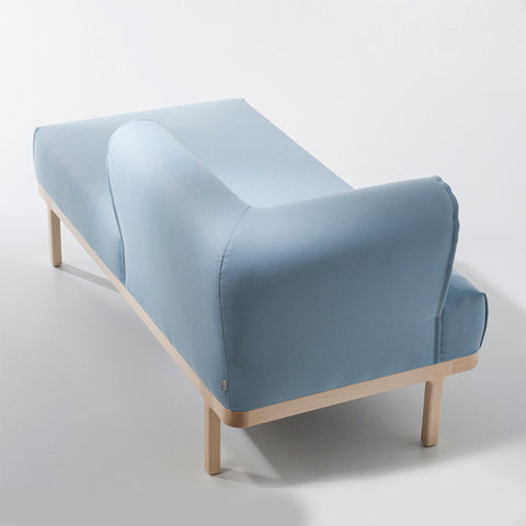 Buy Curvy Rounded Arms Wide Blue Chaise Sofa | 212Concept
