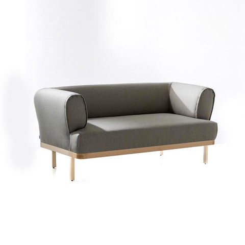 Buy Curvy Rounded Arms Wide Grey Sofa | 212Concept