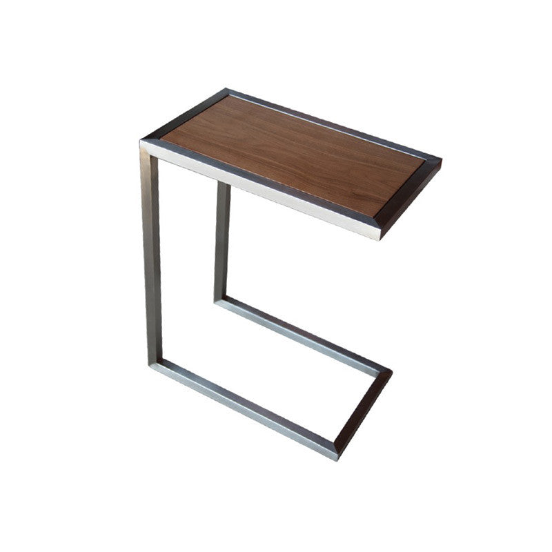Alfa modern end table wood top
