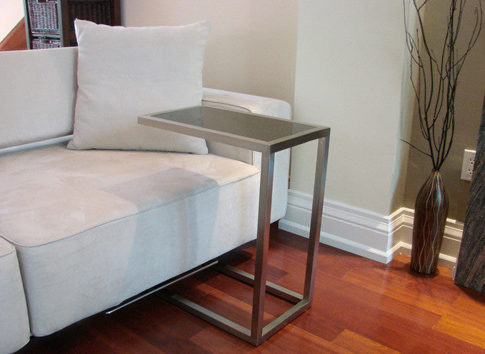 Alfa End Table tempered glass top