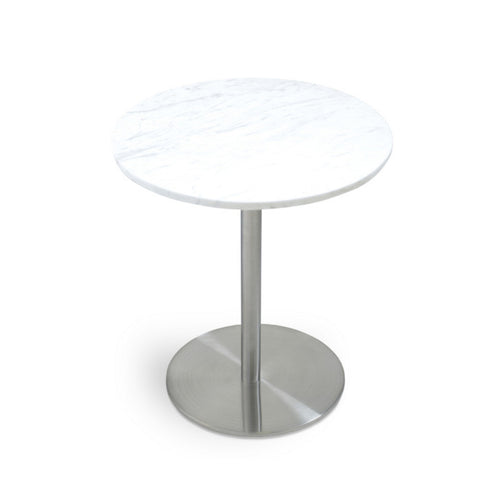 Buy Steel Base Pedestal Side Table | 212Concept