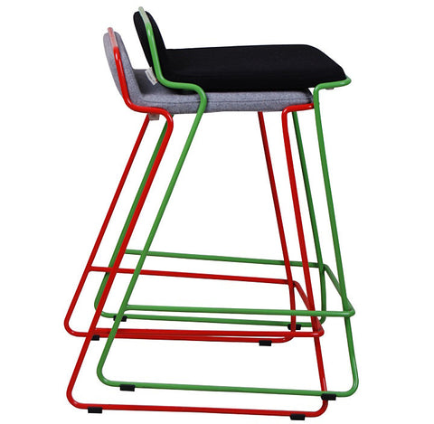 Bleecker modern barstool with wire base