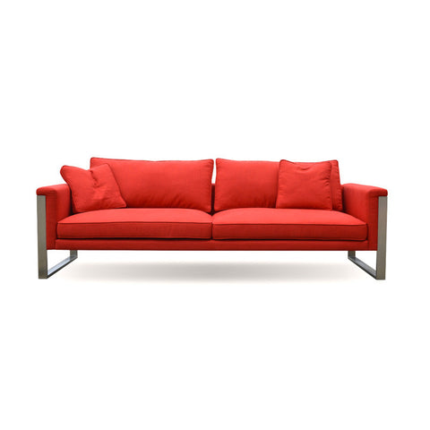 Boston modern sofa with steel legs