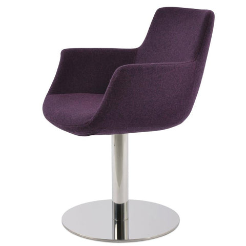 Bottega Arm Round Swivel Chair