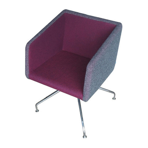 Buy Box Swivel Armchair Purple | 212Concept