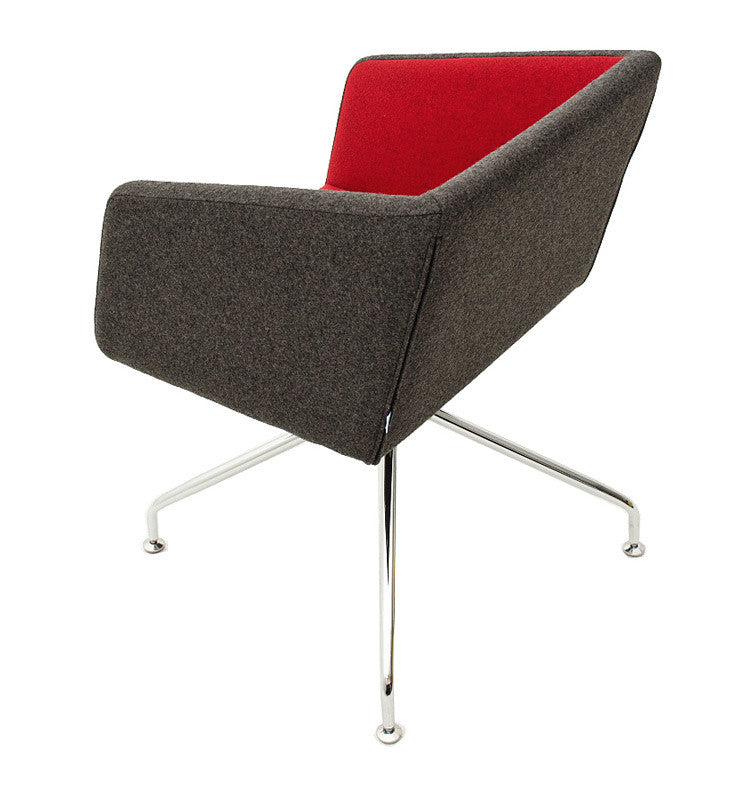 Buy Box Swivel Armchair Red and Black | 212Concept