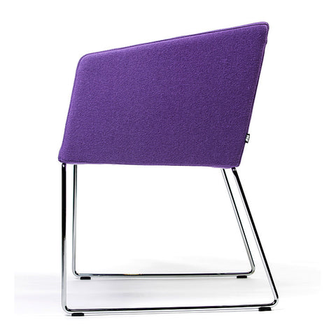 Buy Box Slide Armchair in Purple Fabric | 212Concept