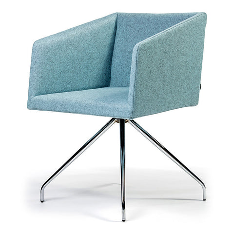 Buy Box Swivel Armchair Baby Blue | 212Concept