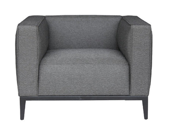 Grey brick California modern armchair