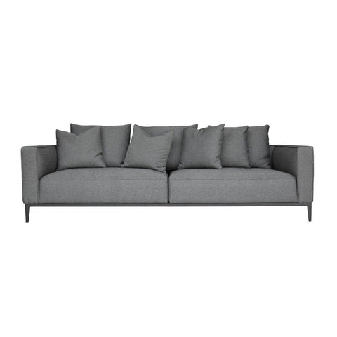 Buy Grey California Sofa with Black Metal Base | 212Concept