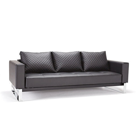 Buy Black Leather Modern Sleeper Sofa By Innovation | 212Concept