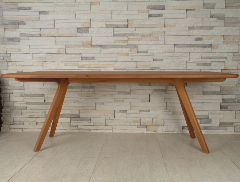 Natural beech wood Charles modern dining table