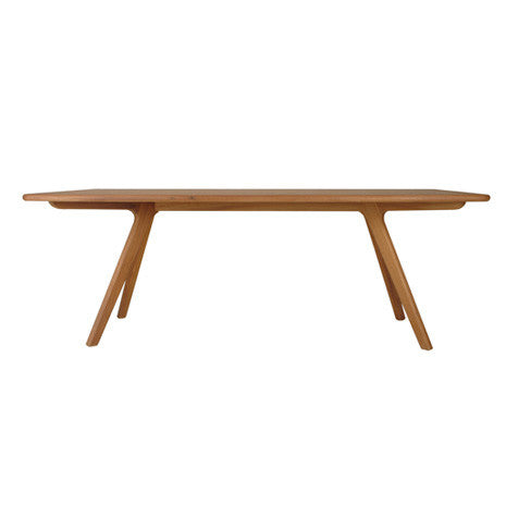 Charles modern dining table in natural beech wood