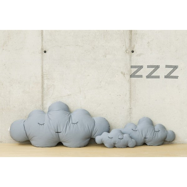 Modern Cloud Shaped Large and Small Size Grey Puffs | 212Concept