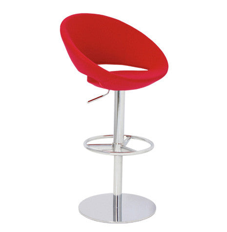 Crescent Barstool with Piston Stool