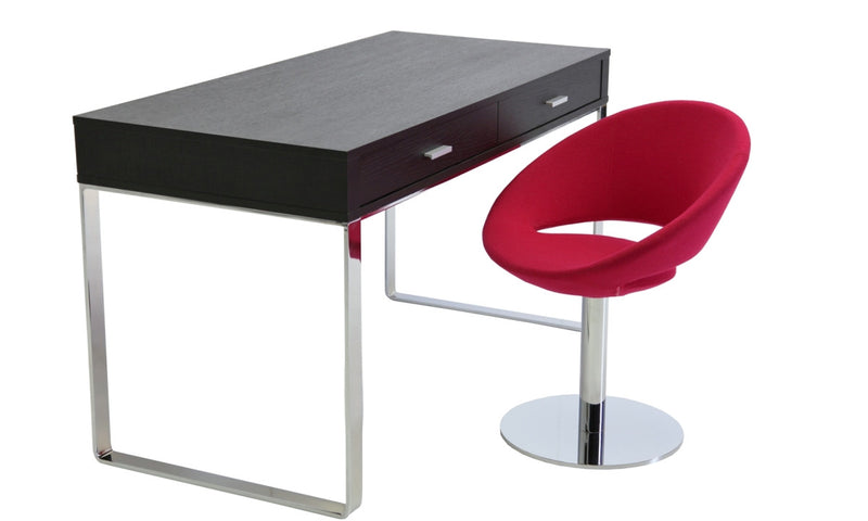 Crescent modern swivel chair with York computer desk