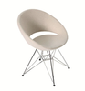 Crescent Tower modern dining chair in beige wool