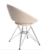 Crescent Tower modern dining chair with steel frame
