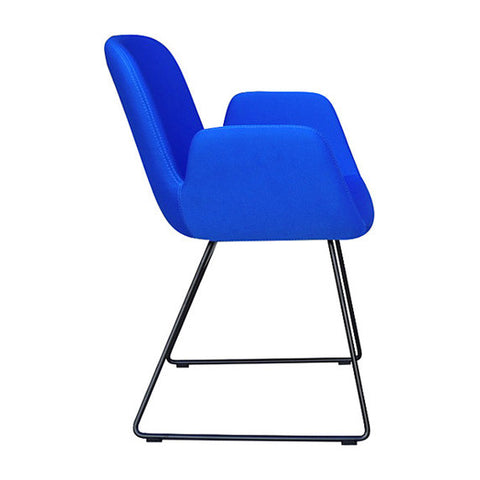 Buy Enveloping Design Daisy Sled Base Armchair in Blue | 212Concept