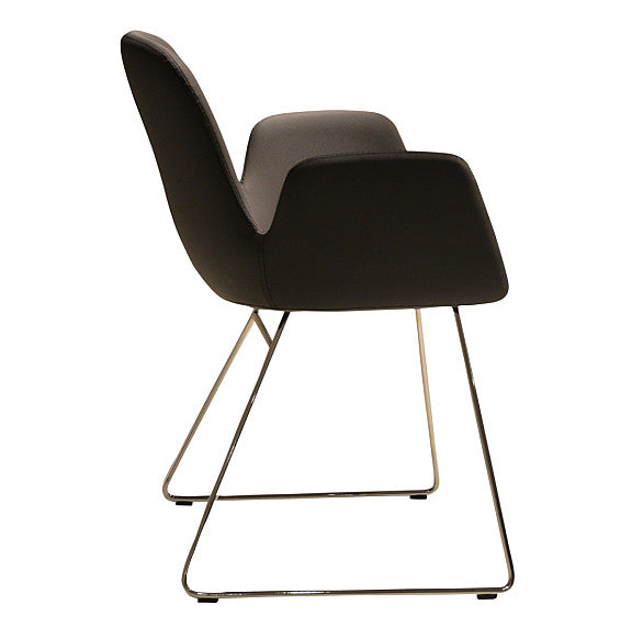 Daisy Armchair in Black Leatherette