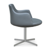 Buy 4-Star Brushed Nickel Base Round Armchair | 212Concept