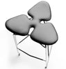 Diamond Barstool with black leather seat